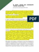 """""""Pedagogía Del Amor"""" Legado Del Comandante Supremo Hugo Rafael Chávez Fría"""