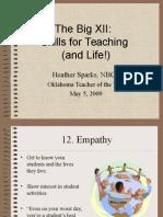 Big XII Skills for Teaching Success