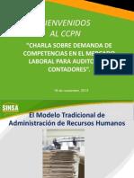 Charla Sobre Demanda de Competencias en El Mercado Laboral Auditores Contadores