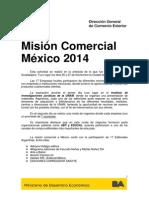 Informe Resultados misión comercial a México, D.F