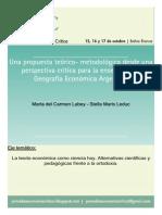 Geografia Economica Perspectivas Teórico Metodológicas