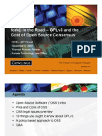 fork ( ) in the Road - GPLv3 and the Cost of Open Source Consensus - OCRI 45th Circuit Nov 2007