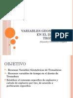 Variables Geométricas en El Diseño de Tronaduras