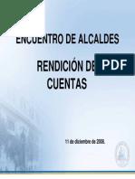 Rendicion de Cuentas Encuentro Alcaldes