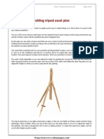 Folding Tripod Easel Plan