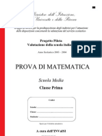 INVALSI 1° media Matematica 2003-04