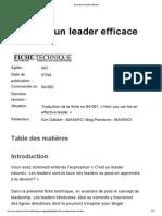 Devenez Un Leader Efficace