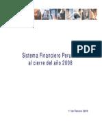 Sistema Financiero - Cierre 2008