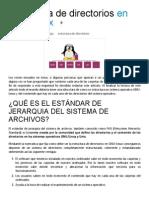 Estructura de Directorios en El Sistema Operativo GNU Linux