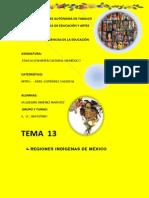 13. Resumen Regiones Indígenas de México
