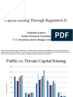 Capital Raising Regulation D SEC Vladimir Ivanov