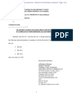 341-main PLAINTIFF'S NOTICE OF FILING REDACTED PLEADINGS IN COMPLIANCE WITH ORDER DE 324 AND ORDER DE 325