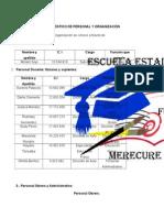 DIAGNOSTICO DE PERSONAL  Y ORGANIZACIÓN