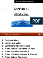 WATER TREATMENT TECHNOLOGY (TAS 3010) LECTURE NOTES 1b - Introduction