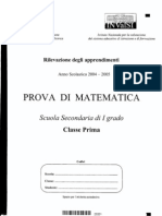 INVALSI 1° media Matematica 2004-05