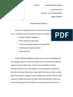 502 - learning methods summary