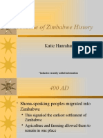 gcu 114 zimbabwe history timeline