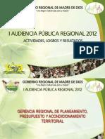 Goremad - 2012 i Audiencia Resumen Ejecutivo