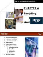 WATER TREATMENT TECHNOLOGY (TAS 3010) LECTURE NOTES 4 - Waste Water Sampling & Analysis