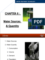 WATER TREATMENT TECHNOLOGY (TAS 3010) LECTURE NOTES 6 - Water Sources and Quantity-1