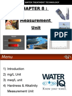 WATER TREATMENT TECHNOLOGY (TAS 3010) LECTURE NOTES 8 - Measurement Unit