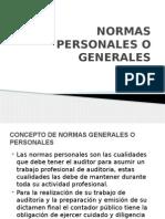 Normas Personales o Generales