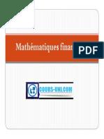 Cours Mathématiques financières