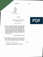 Companies Amendment Act 2013 No. 19 of 2013