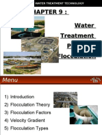 WATER TREATMENT TECHNOLOGY (TAS 3010) LECTURE NOTES 9b - Flocculation