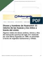 Dioses y Hombres de Huarochirí_ El Retorno de Las Huacas y Los Mitos a Través Del Cómic _ Diario Correo