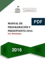 Manual de Programación y Presupuesto 2016 (a)