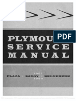 1957 1958 Plymouth Service Manual