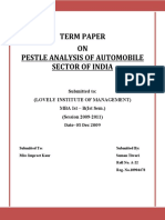 Pestle Analysis of Automobile Sector of India