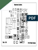 Gabarito Cozinha em PDF 1:50