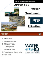 WATER TREATMENT TECHNOLOGY (TAS 3010) LECTURE NOTES 9d - Filtration