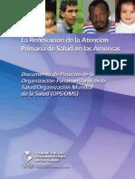 Renovacion Atencion Primaria Salud Americas-OPS
