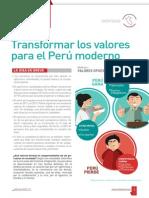 Transformar los valores para el Perú moderno