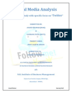 Analysis of Social Media With Specific Focus on Twitter