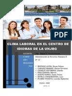 Clima Laboral Centro Idiomas