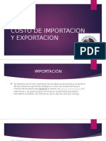 Costo de Importacion y Exportacion