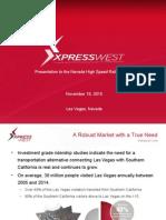 XpressWest Presentation  to NV HSRA 11-18-15