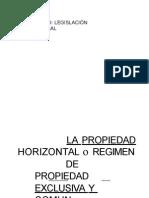 La Propiedad Horizontal