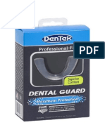 Dentek Dental Guard User Guide