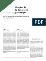 As (Re)Significações Da Cidadania e Da Democracia Em Face Da Globalização