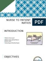 nurse to patient ratios 450