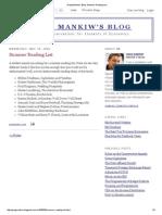 Greg Mankiw's Blog_ Summer Reading List