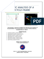 Static Analysis of a Bycycle Frame