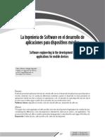 Ingenieria de Software para el uso de aplicaciones moviles
