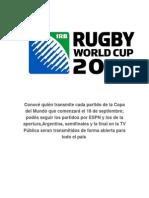 Calendar Rugby Worldcup 15