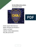 La Historia Del Club Atletico Boca Juniors